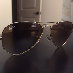 Ray-Ban Aviator Light Brown Gradient